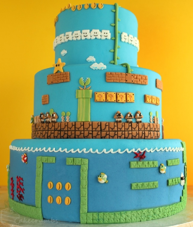 Super Mario Brothers: the final cake tier