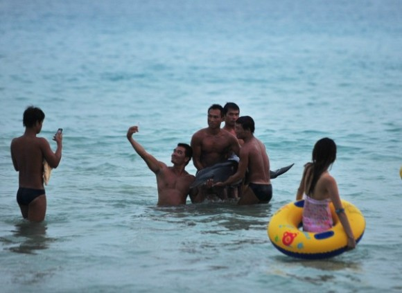 tourists-taking-pictures-with-stranded-dolphin-angers-netizens-03-600x438