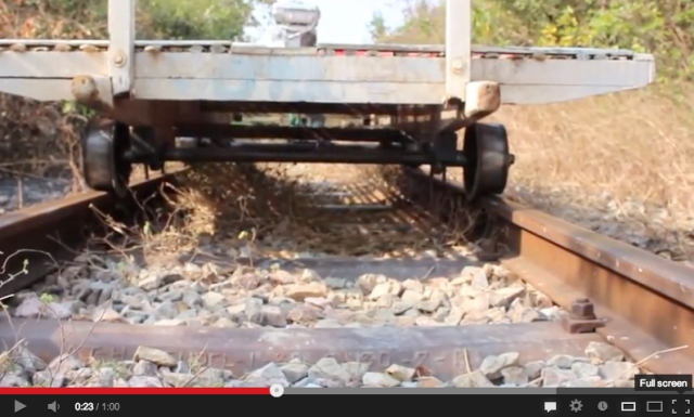 Small, fast, and 'crazy rickety' – Cambodia's breakneck bamboo train 【Video】