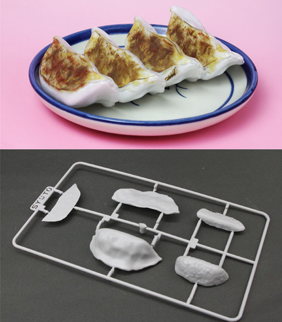 Build your own dumpling with this plastic model kit from Amazon Japan