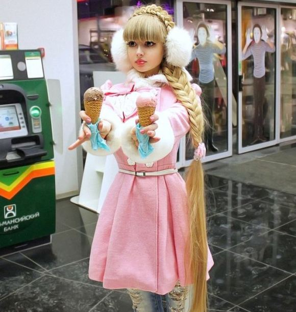 """Russian Barbie Girl"" shows off her doll-like features"