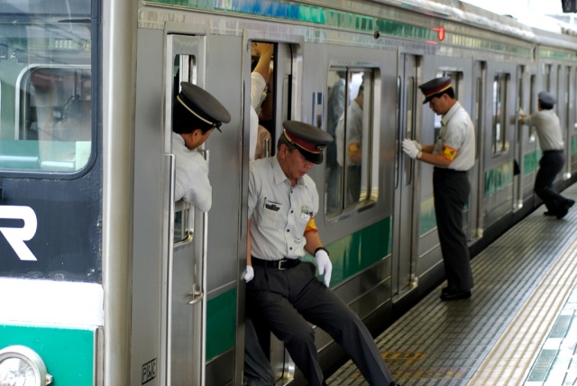 New train carriages on Tokyo's Saikyo Line allow more sardines to be squeezed into the can