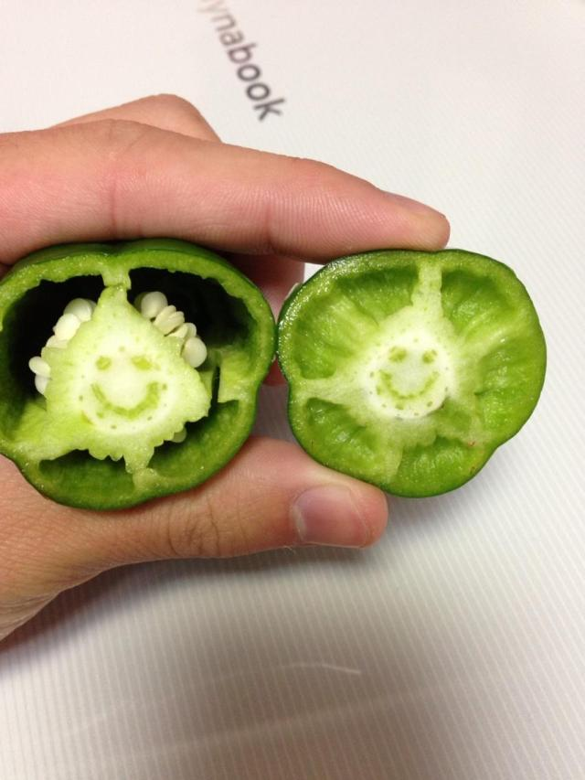 Cute, occasionally terrifying images appear in Japanese produce