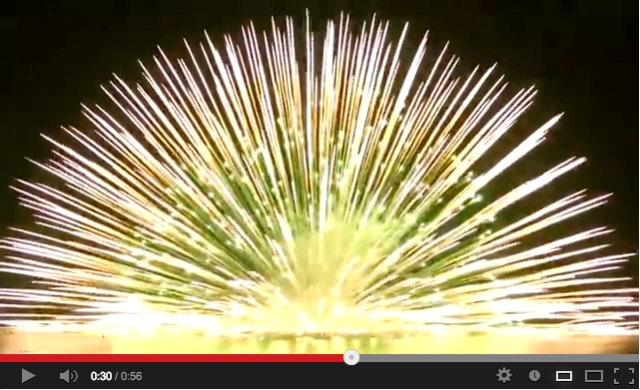 Kumano City's floating firework finale may be the coolest we've seen all year