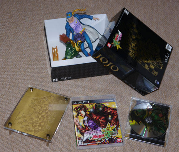 Jojo's Bizarre Adventure: All Star Battle limited edition boxset in our sweaty little hands!