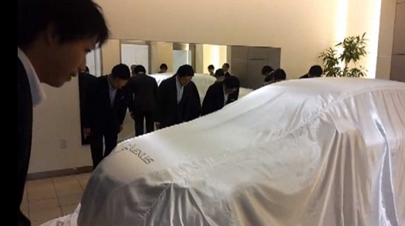 Lexus car ceremony is eerily reminiscent of a…funeral??