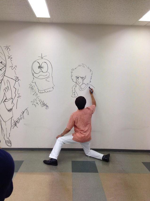 "Manga artists draw on the walls of Shogakukan building at ""Big Graffiti Rally"" 【Photo Gallery】"