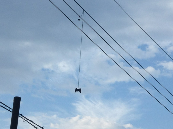 Life imitating art? Game controllers spotted hanging from power lines in Japan