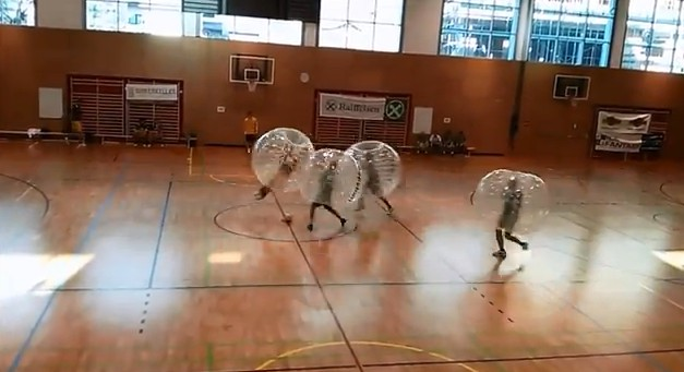 Bubble Soccer is part soccer, part sumo, mostly Looney Tunes