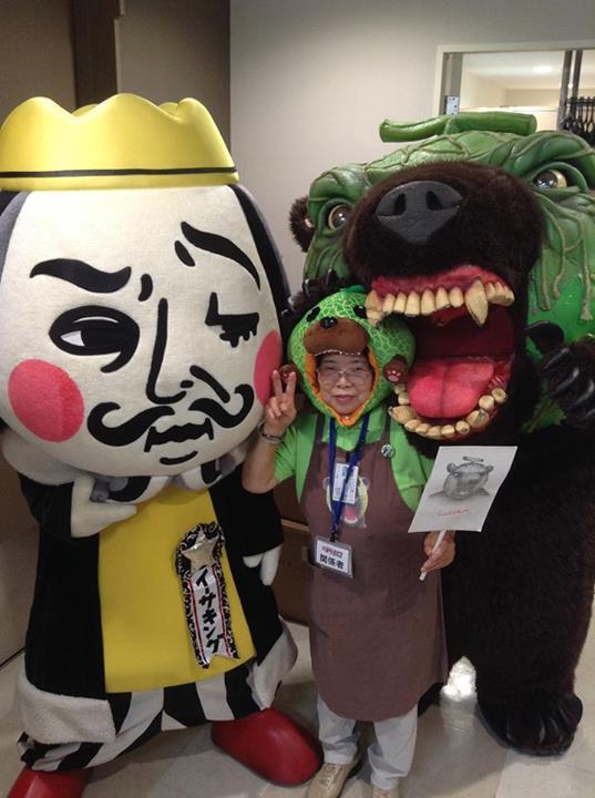 Spastic yellow pear, Funassyi, named top mascot in Japan2