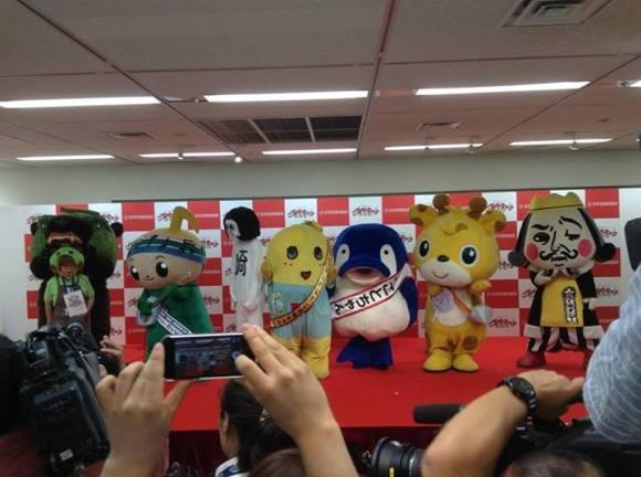 Spastic yellow pear, Funassyi, named top mascot in Japan3