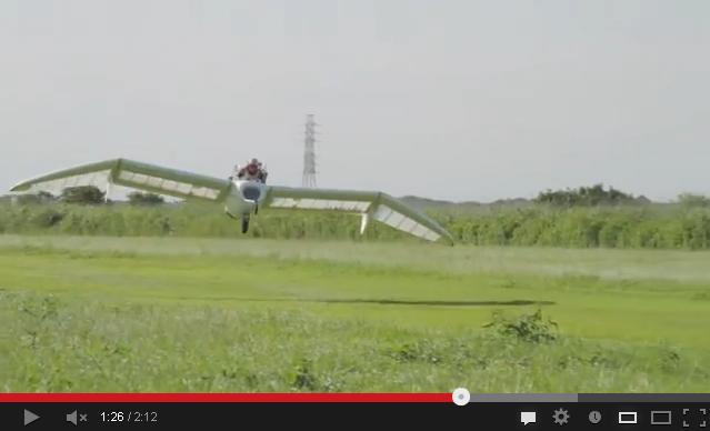 Real-life Nausiccä's Möwe glider makes first powered flight