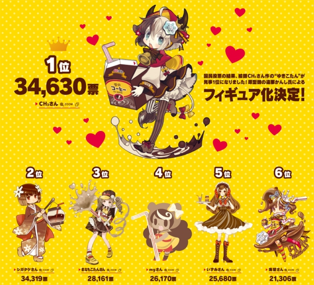Japanese coffee brand announces the winner of its Yukiko-tan mascot competition!