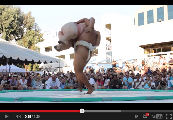 Epic body slam action at US Sumo Open【Video】