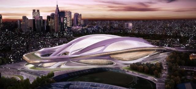 Tokyo Olympic stadium looks like aliens landed downtown