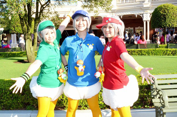 The awesome outfits of cosplayers at Tokyo Disneyland