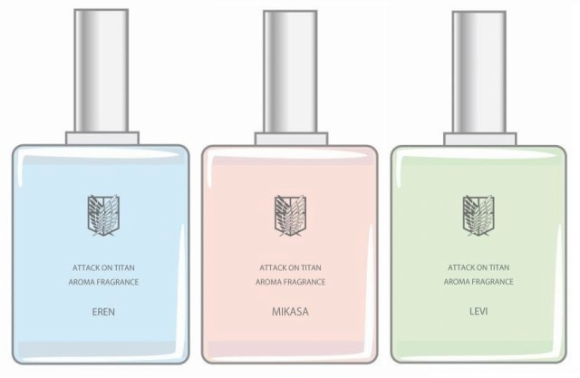 The scent of battle: New line of perfume based on Attack on Titan anime