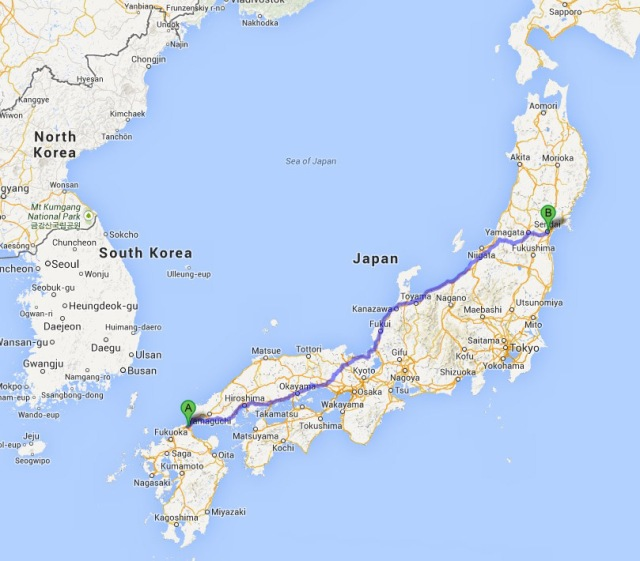 Man walks 1,400km home after getting mugged on the other end of Japan