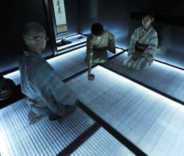 LED tatami floors take us to the tea ceremony of the future