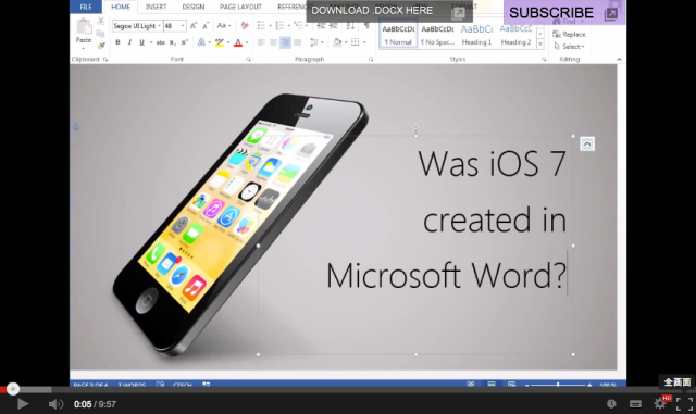 Was iOS 7 created in Microsoft Word? Czech expert makes us believe so【Video】