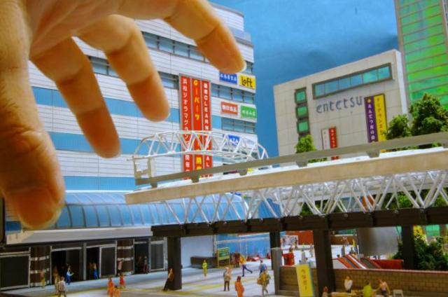 Hamamatsu train station unveiled in miniature form