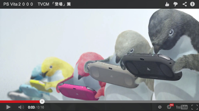 Sony's new PlayStation Vita Slim ad is awesome, features gaming penguins 【Video】
