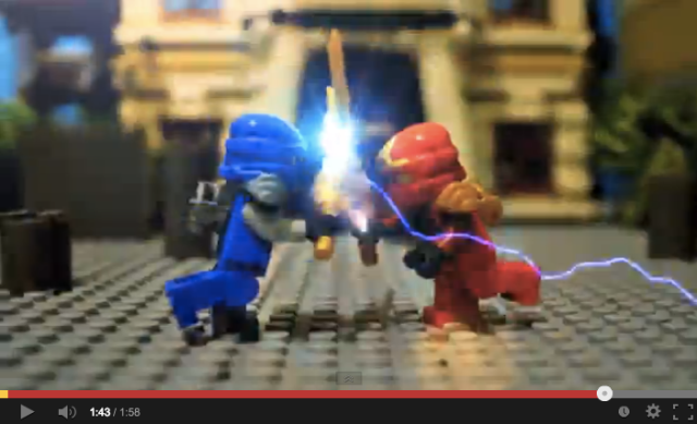 Lego ninjas duke it out in this epic stop motion video