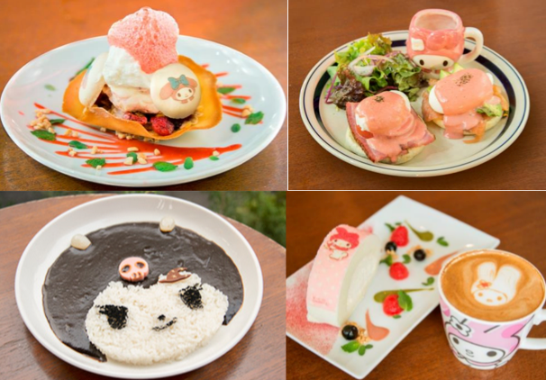 My Melody and friends featured at pop-up cafe in Tokyo