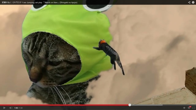 Anime fan and pet owner recreates Attack on Titan's epic opening shot by shot – with cats! 【Video】
