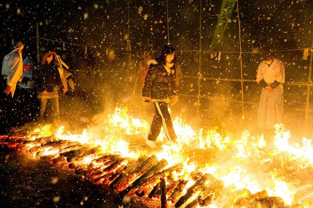 Can you handle the heat at Fukugonji's annual firewalking festival?