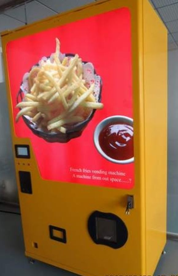 Years of labor and millions of dollars finally yield amazing french fry vending machine