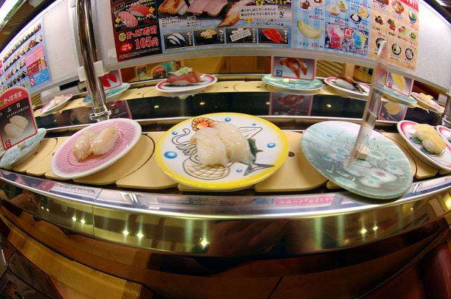 What to expect from conveyor belt sushi restaurants: not necessarily fish