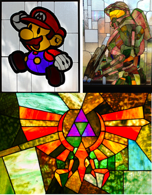 Mario, Zelda, Halo…You've never seen stained glass like this before