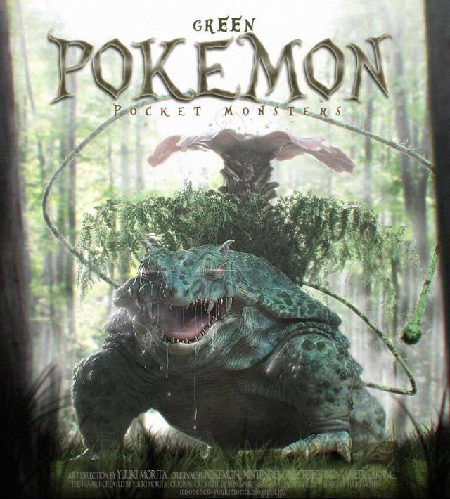 Gotta run from 'em all! CG Pokémon fan art turns adorable Bulbasaur into frightening behemoth