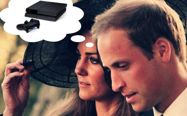 """Prince William would """"love to have a PlayStation 4"""" but wonders if his wife will let him"""