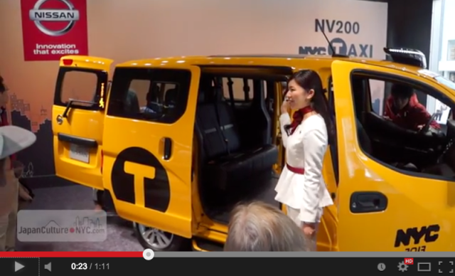 "Japan-designed New York City ""Taxi of Tomorrow"" put on display in Tokyo despite recent setback"