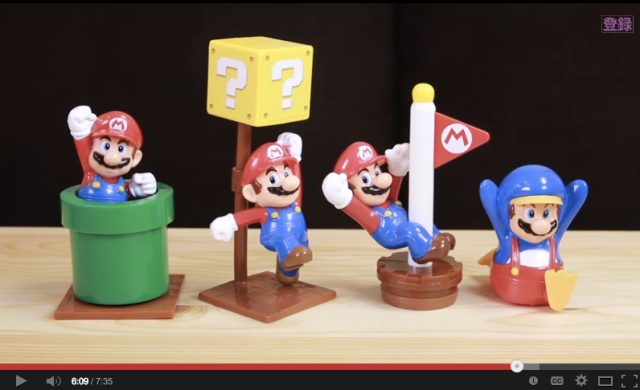 Videos of the first four Happy Meal Marios from McDonald's Japan!