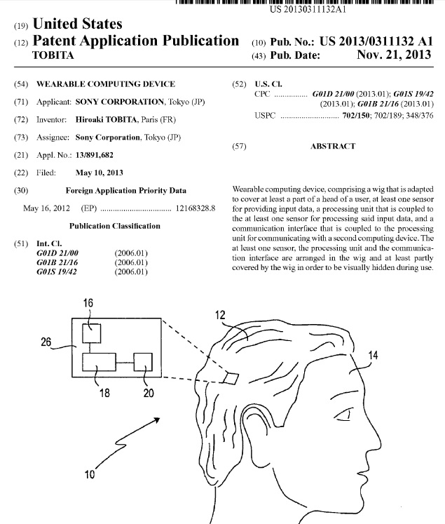 """Sony files patent application for a """"Smart Wig"""""""