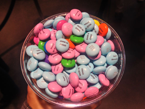 """Troll your friends with personalized """"Made in China"""" M&M's this Christmas!"""