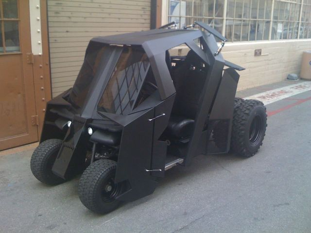 If Batman played golf, this would be his ride