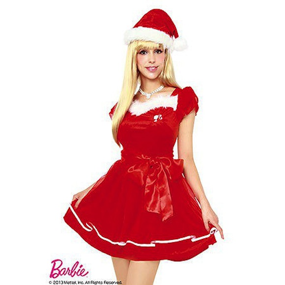 "Have a very cute and sexy Christmas with these ""Christmas Barbie"" costumes!"