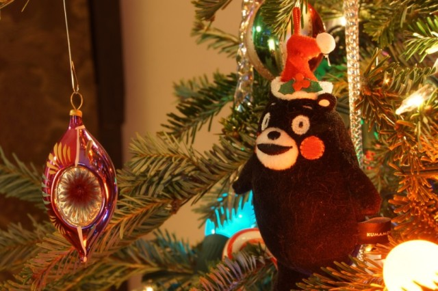 This Christmas tree is way cuter, and way more Japanese, than ours