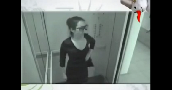 Woman with alone time on an elevator does something incredibly unexpected