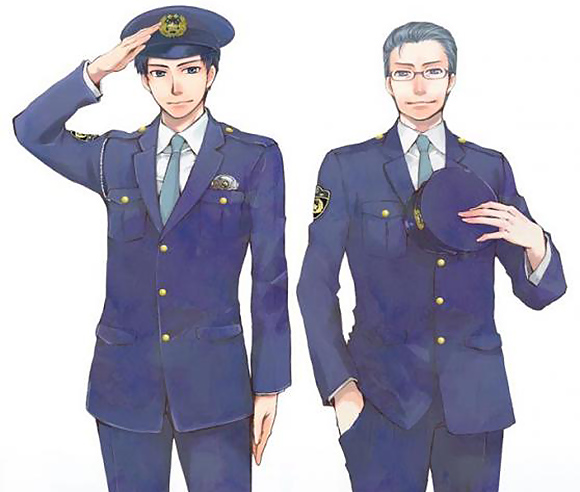 Fangirls fawn over Nagano police station's new pretty-boy mascot characters