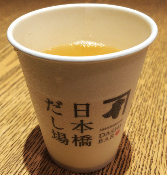 We try traditional Japanese soup stock at a specialty standing bar in Tokyo
