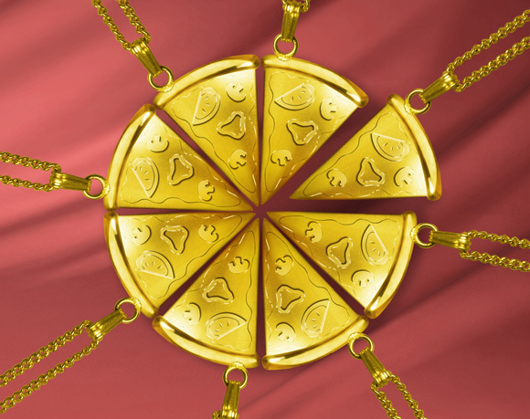 "Pizza Hut Japan's latest promotion gives ""golden crust pizza"" new meaning"