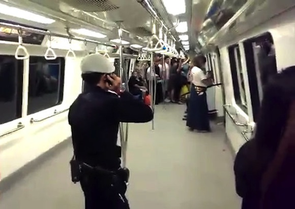 """Singapore """"samurai"""" faces up to five years in jail after swinging sword on subway"""