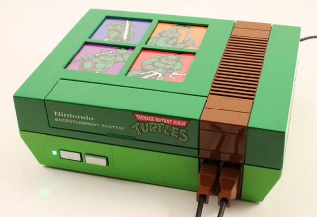 All I want for Christmas… is this awesome backlit Teenage Mutant Ninja Turtles NES
