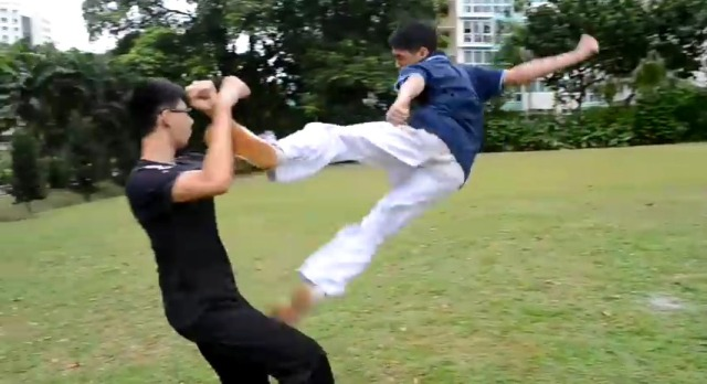 Kung-fu youths film the best action video in Singaporean history【Video】