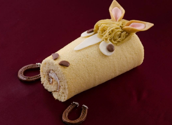 Nullify your New Year's weight loss resolution with Year of the Horse roll cake